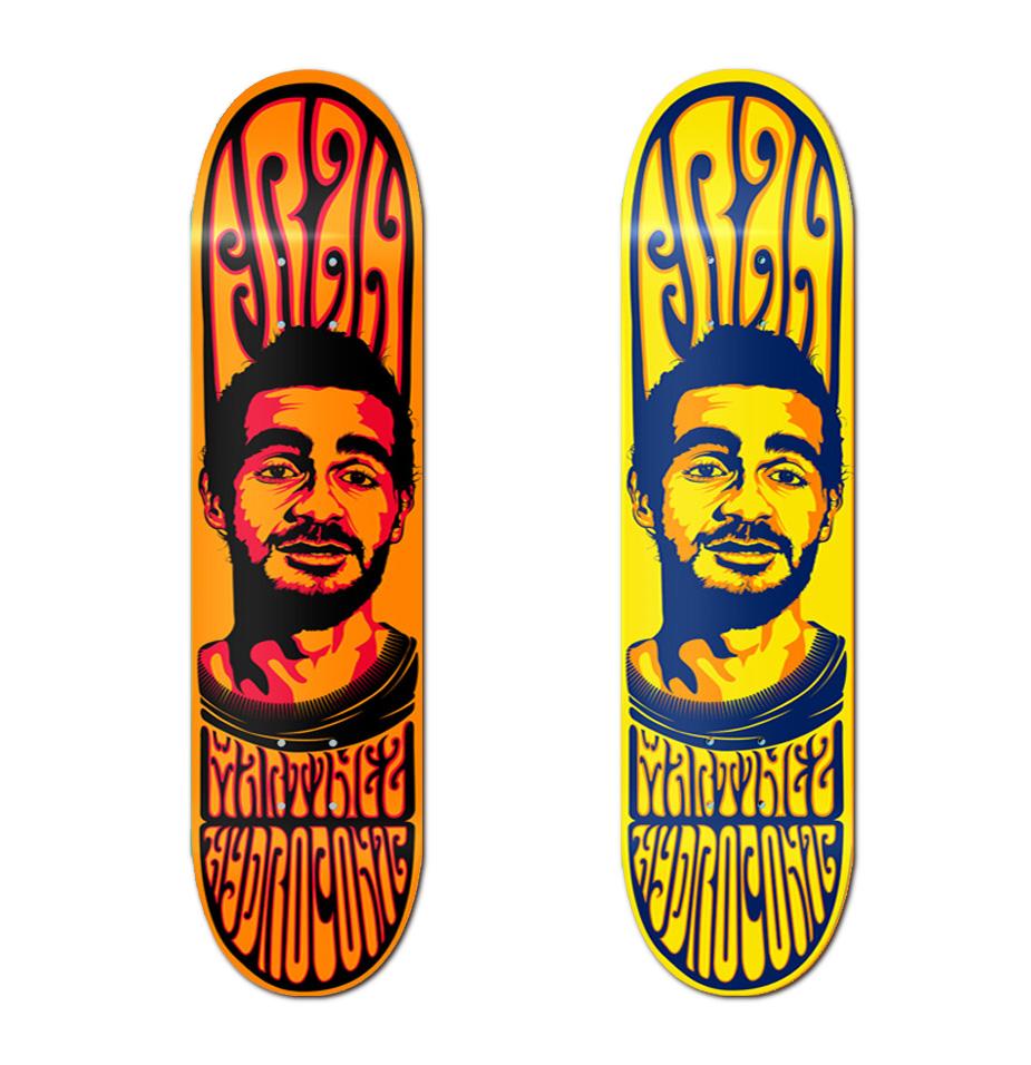 Hydroponic skateboards Fran Martinez