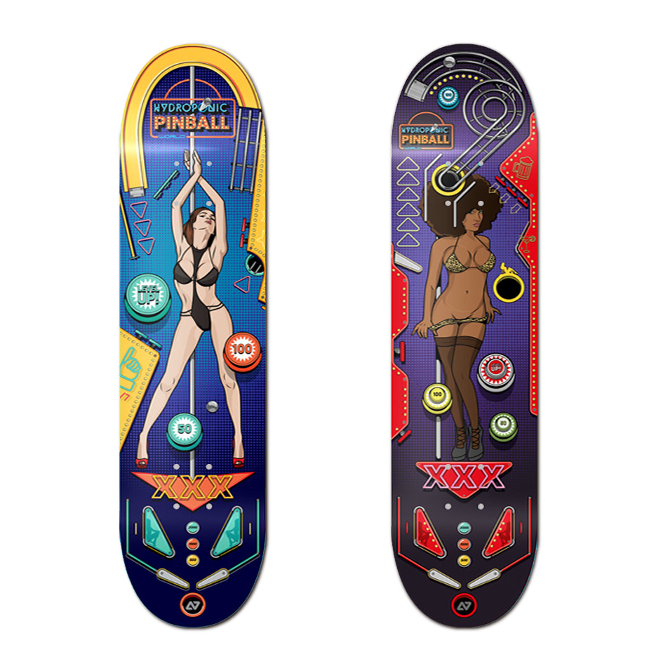 Hydroponic skateboards Pinball