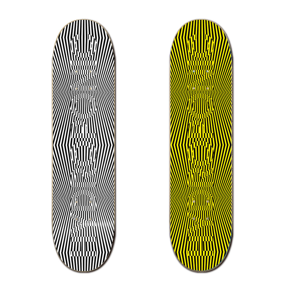 Hydropponic Skateboards Op Art