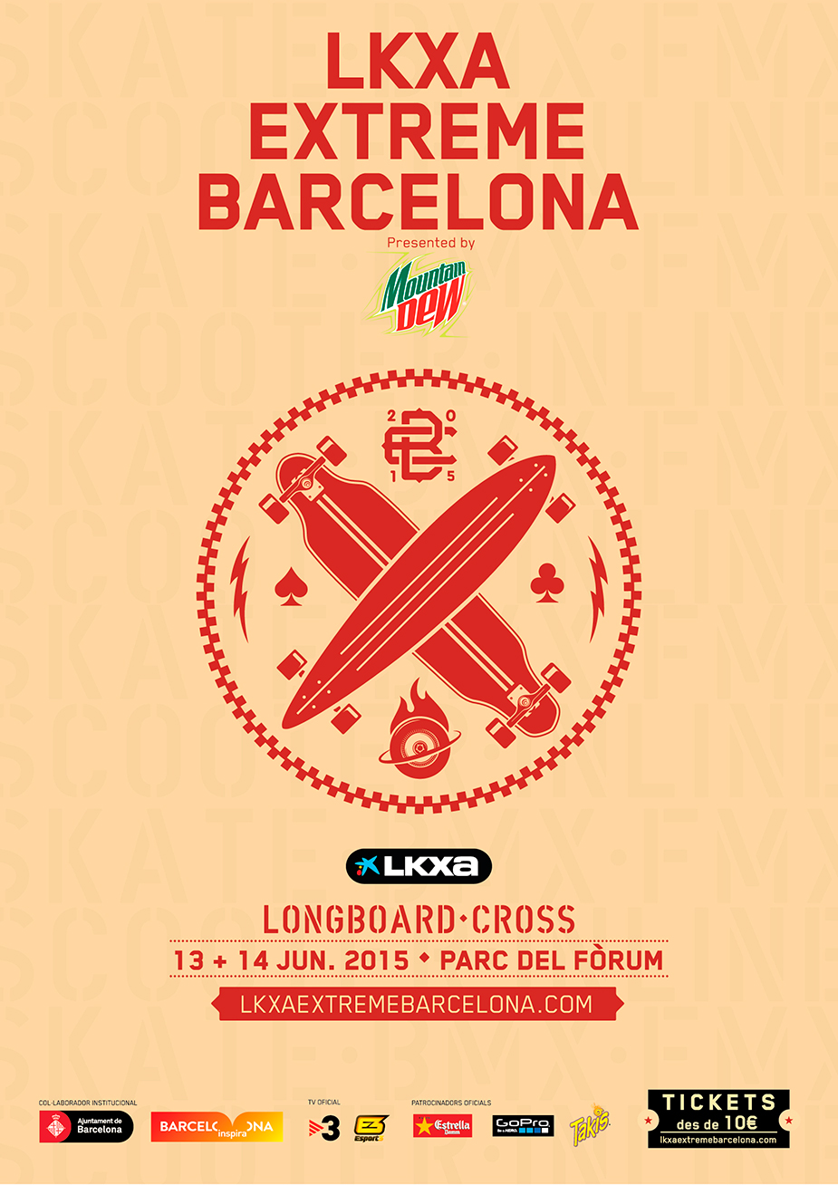 LKXA Extreme Barcelona Longboard Cross