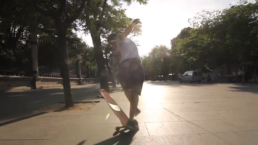 Longboard Raw lines at the local spot