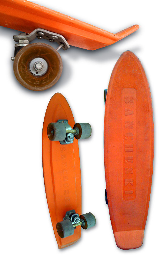 Sancheski Top naranja skateboard