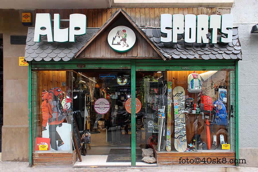 ALP Sports. Sports & Skate shop. Barcelona