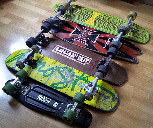 Quiver skateboard longboard