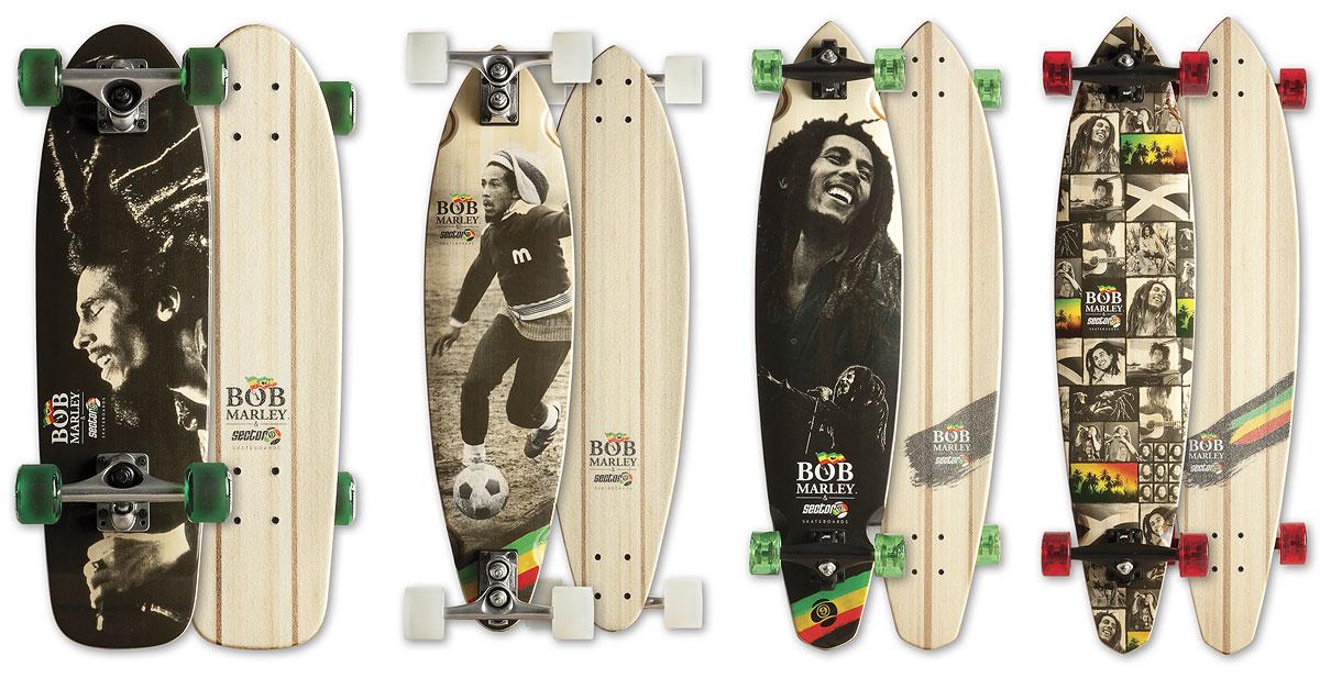 Bob Marley & Sector 9 skateboards